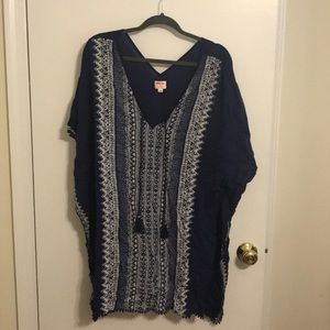 Stella and Dot Caftan Indigo Tunic L/XL